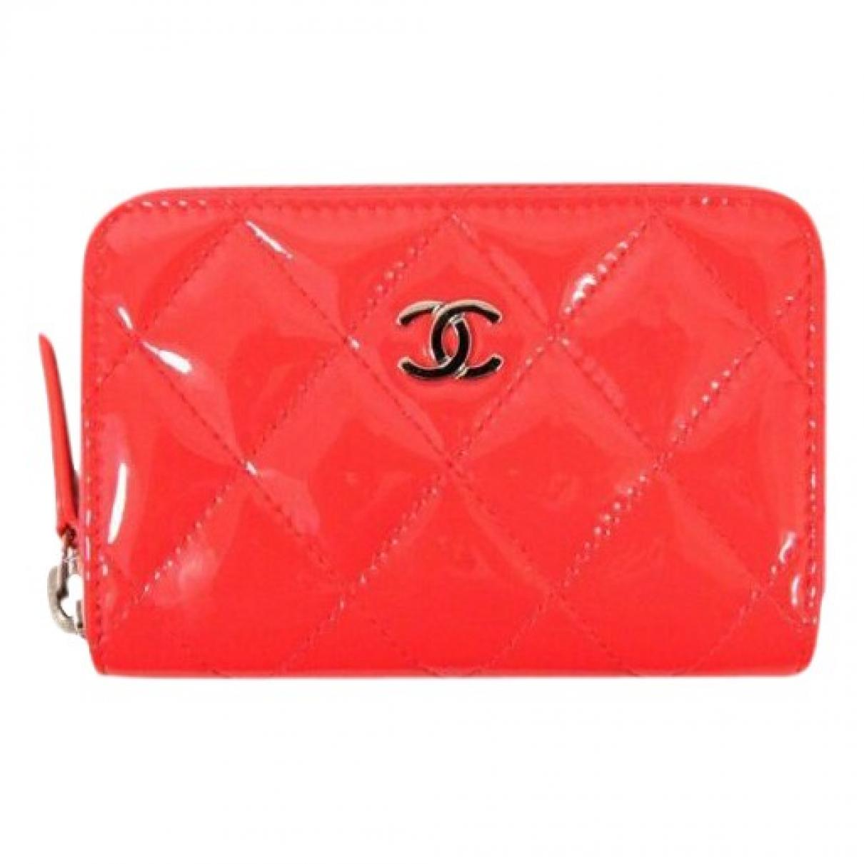 Chanel - Petite maroquinerie   pour femme en cuir verni - rose
