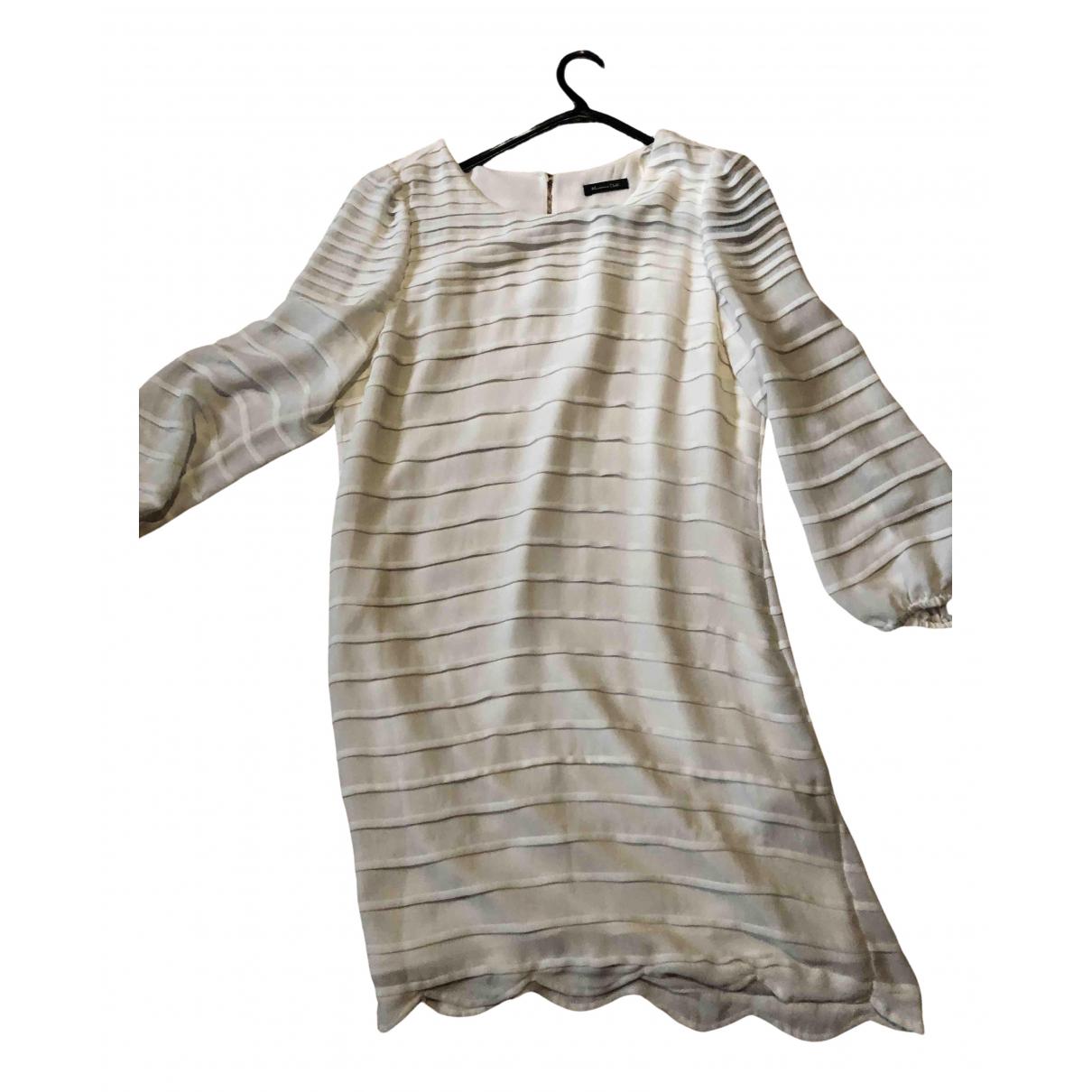 Massimo Dutti \N Kleid in  Ecru Polyester