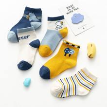 5 Paare Kleinkind Socken mit Streifen Muster