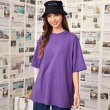 T-Shirt Fluegel Muster und kurzen Ärmeln