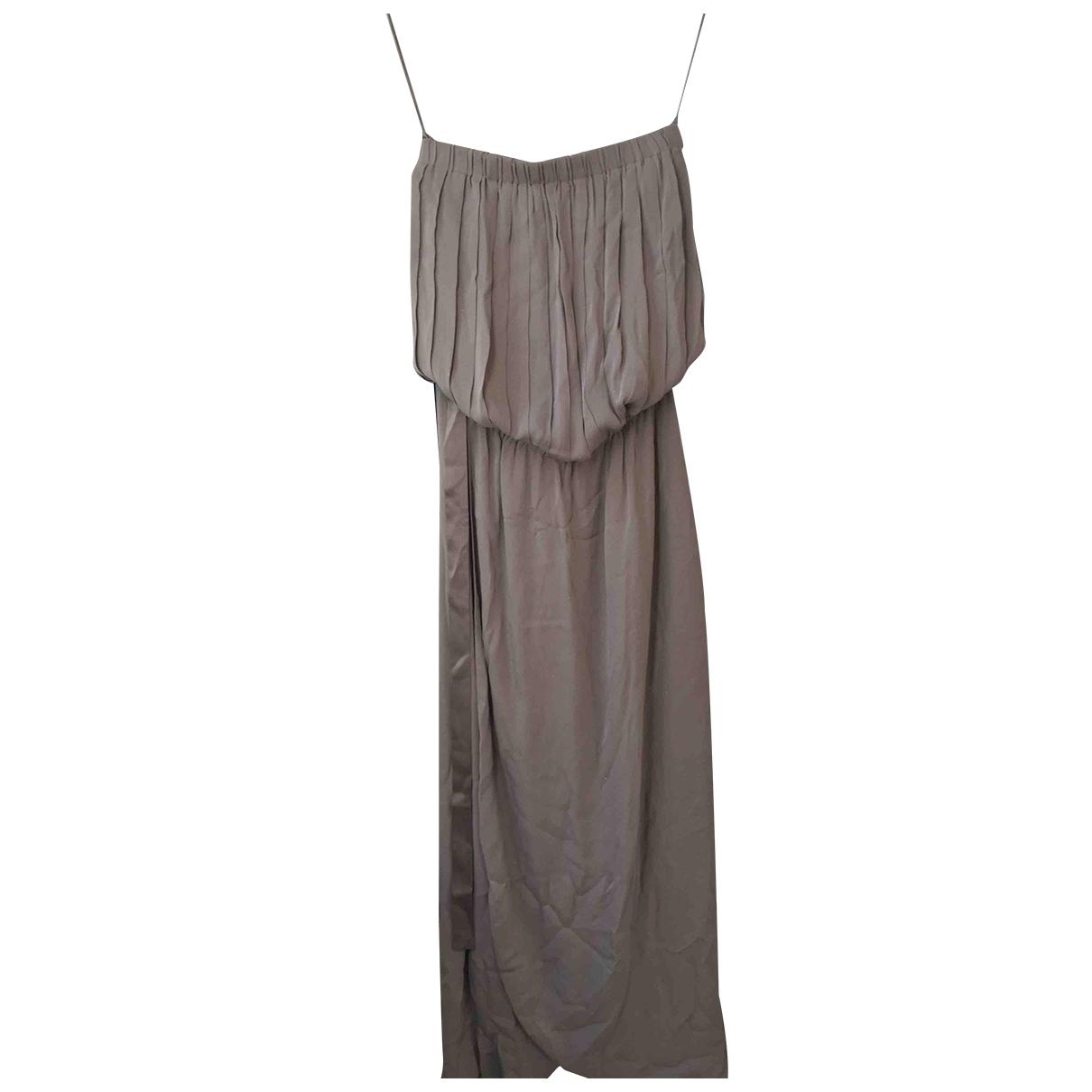Alice & Olivia \N Grey Silk dress for Women M International