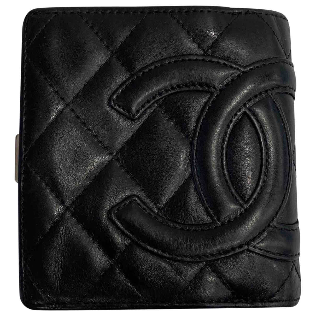 Chanel - Portefeuille Cambon pour femme en cuir - noir