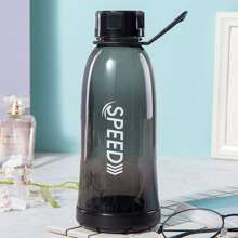 Letter Graphic Water Bottle