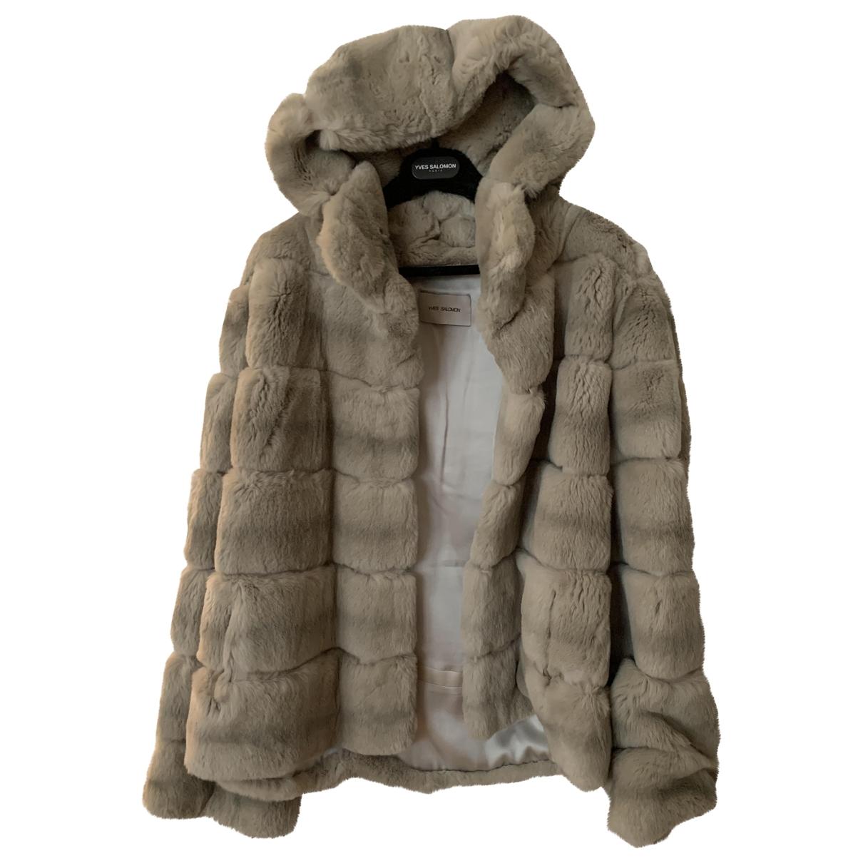 Yves Salomon \N Grey Rabbit coat for Women 44 FR