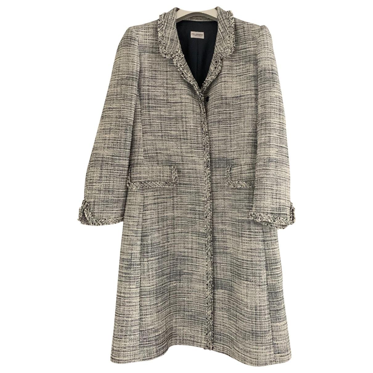 Philosophy Di Alberta Ferretti \N Blue Linen coat for Women 40 IT