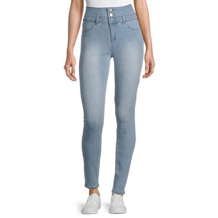Ymi - Juniors Womens High Rise Skinny Fit Jean, 11 , Blue