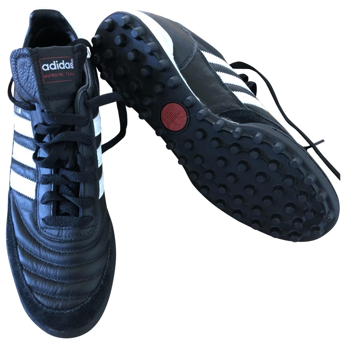 Adidas \N Black Leather Trainers for Men 42 EU