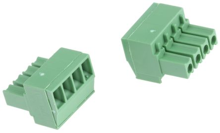TE Connectivity , Buchanan 3.5mm Pitch, 4 Way Pluggable Terminal Block, Green (5)