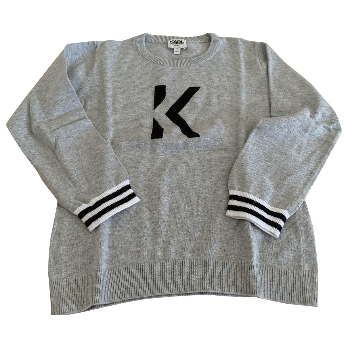 Karl Lagerfeld \N Grey Cotton Knitwear for Kids 6 years - up to 114cm FR