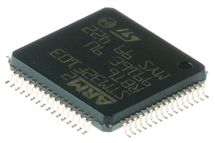 STMicroelectronics ST72F321AR9T6, 8bit ST7 Microcontroller, ST7, 8MHz, 60 kB Flash, 64-Pin LQFP (2)