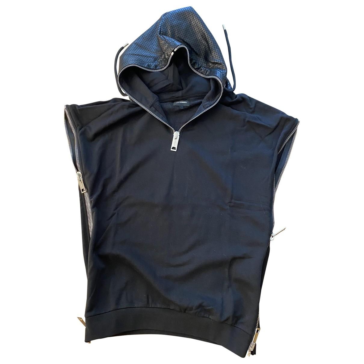 Les Hommes \N Pullover.Westen.Sweatshirts  in  Schwarz Baumwolle