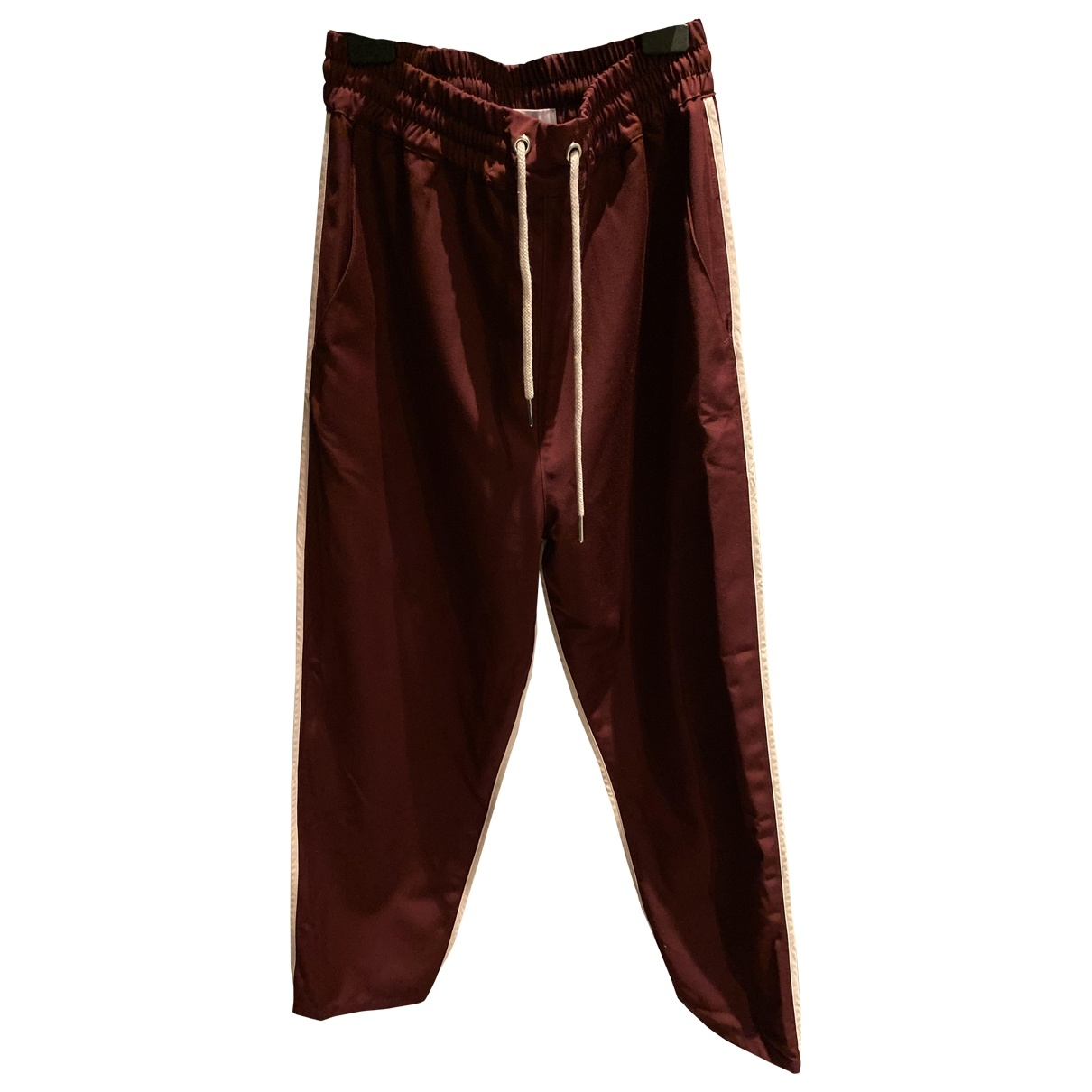 Pantalones en Poliester Burdeos Drole De Monsieur