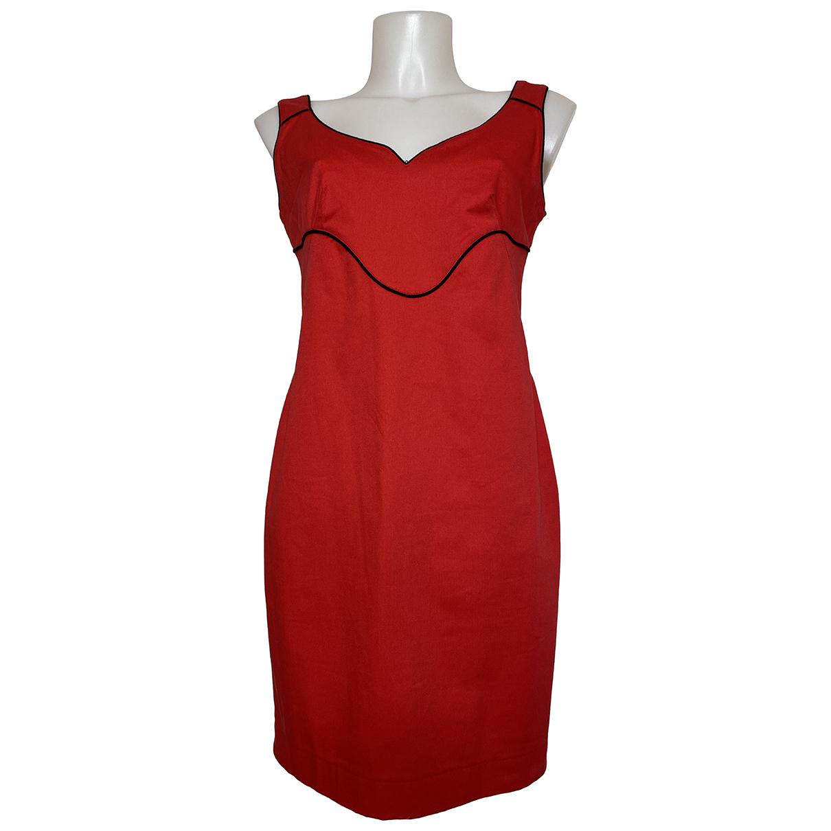 Alexander Mcqueen \N Kleid in  Rot Baumwolle - Elasthan