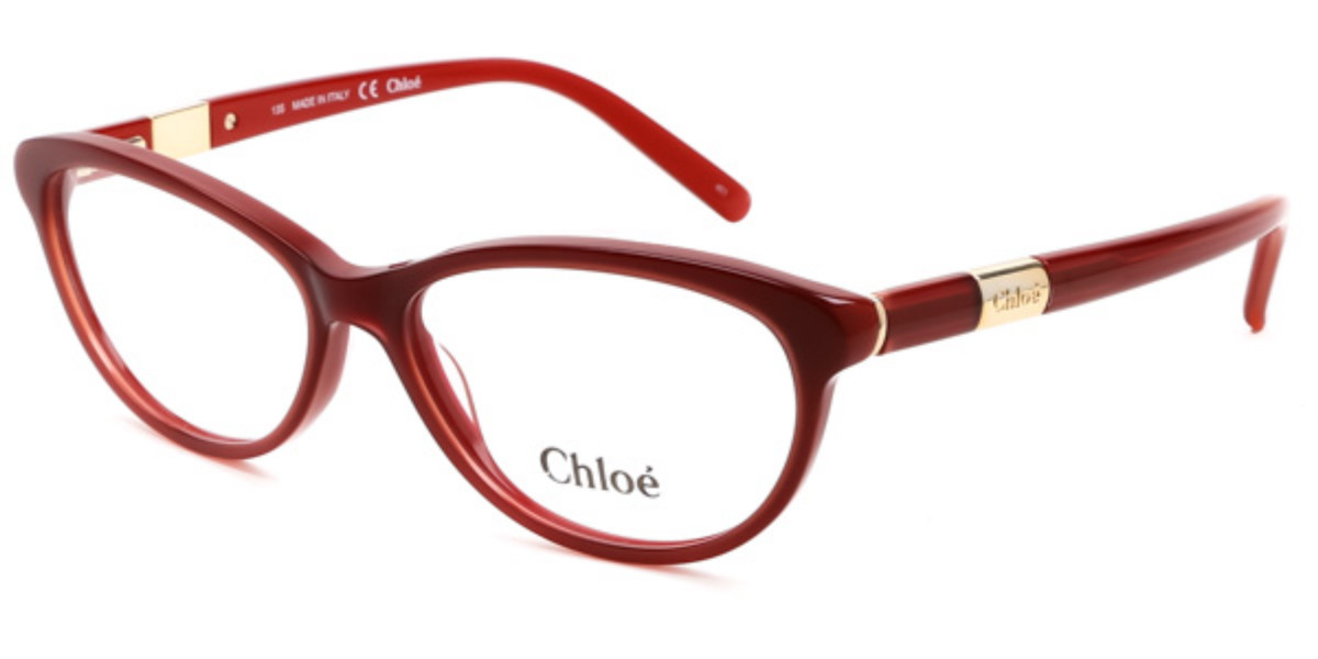 Chloe CE 2626 613 Women's Glasses Red Size 54 - Free Lenses - HSA/FSA Insurance - Blue Light Block Available