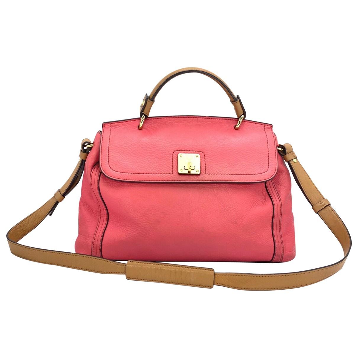 Mcm \N Pink Leather handbag for Women \N