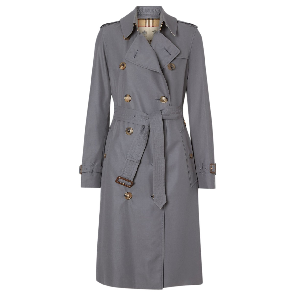 Burberry N Grey Cotton Trench coat for Women 40 IT