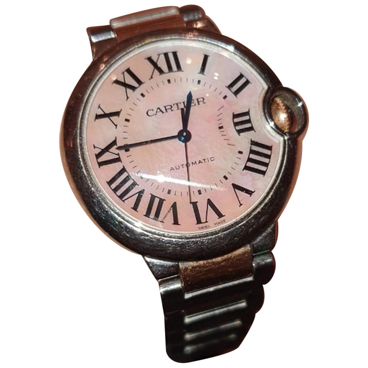 Cartier Ballon bleu Uhr in  Silber Gold und Stahl