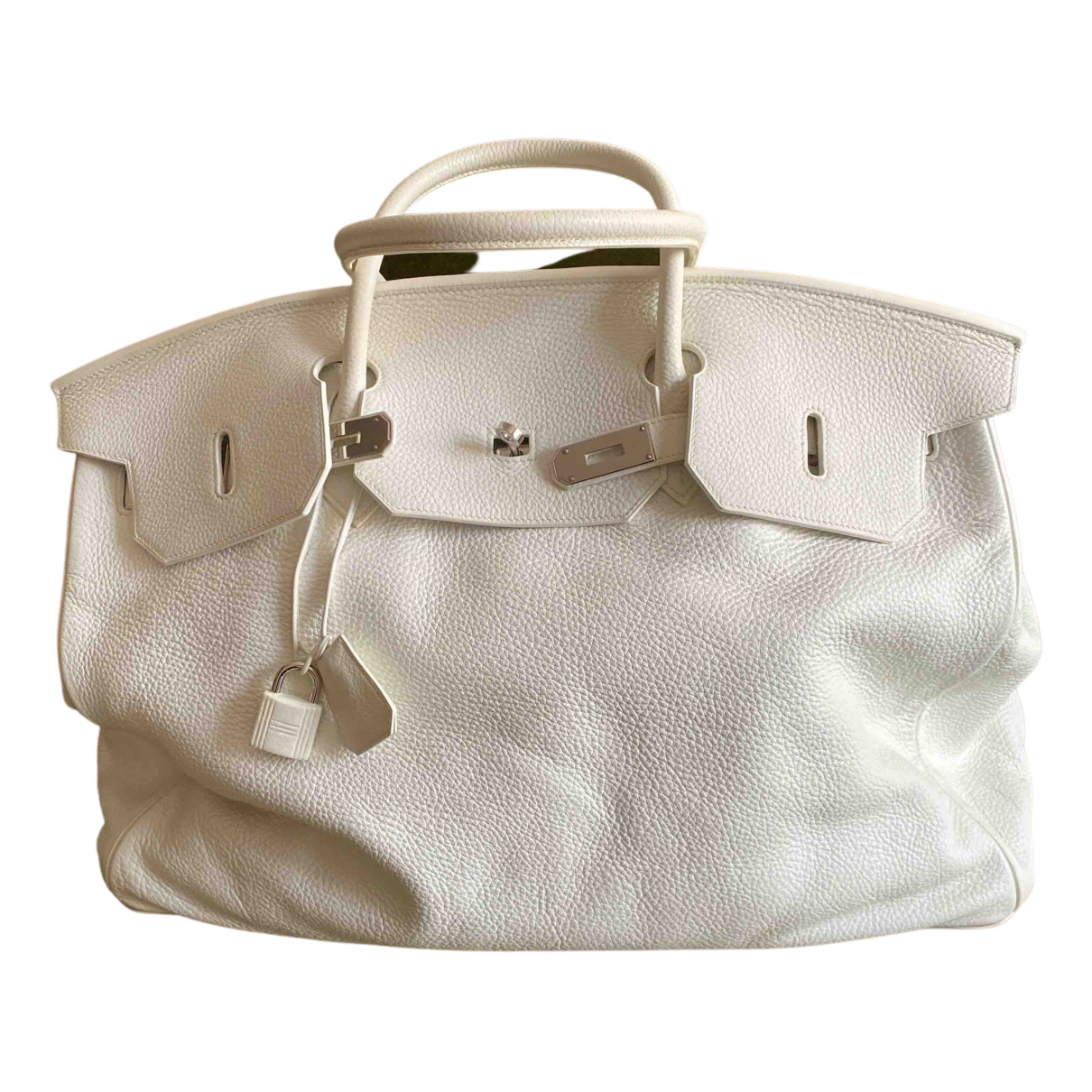 Hermès Birkin Voyage White Leather Travel bag for Women N