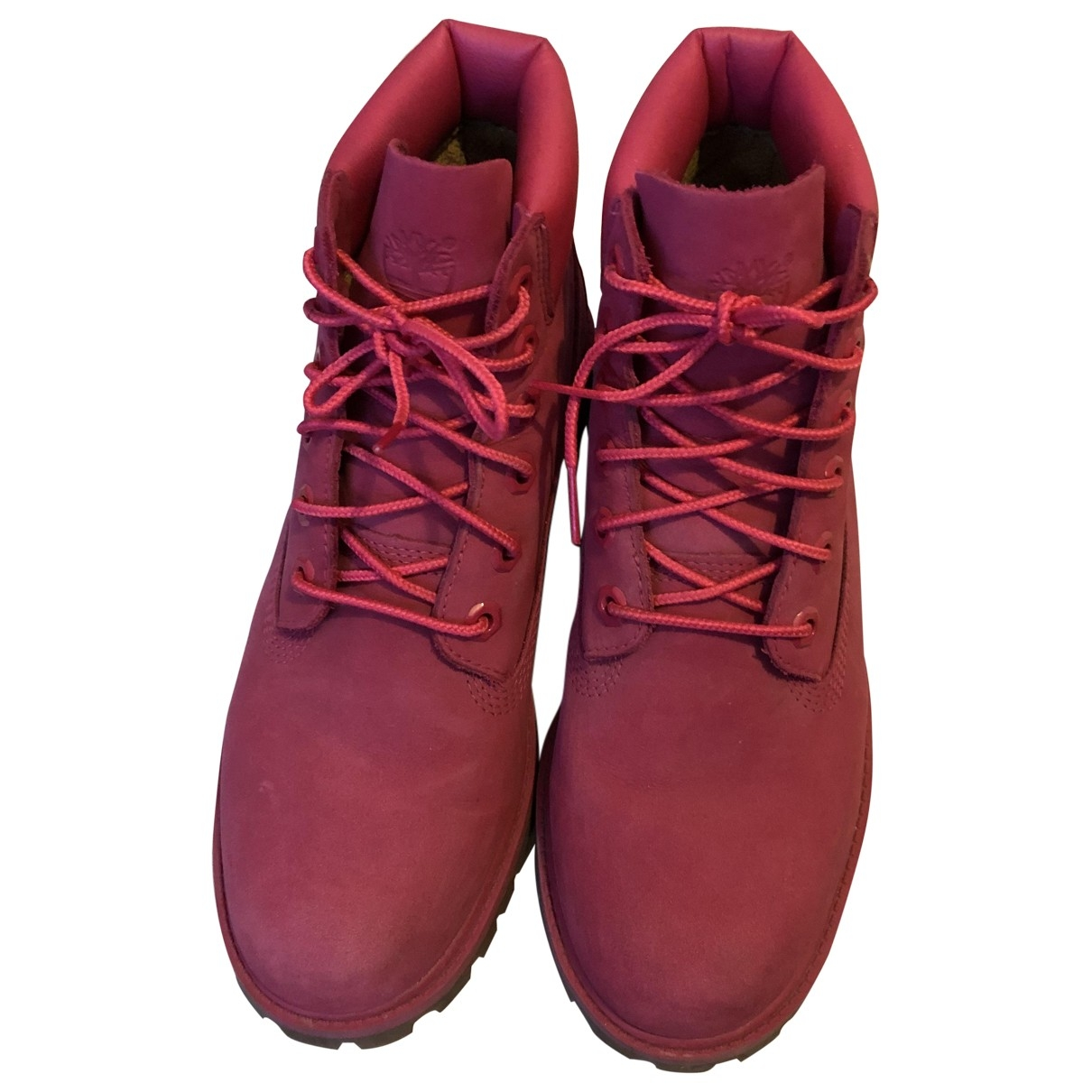 Timberland \N Pink Leather Boots for Women 38 EU