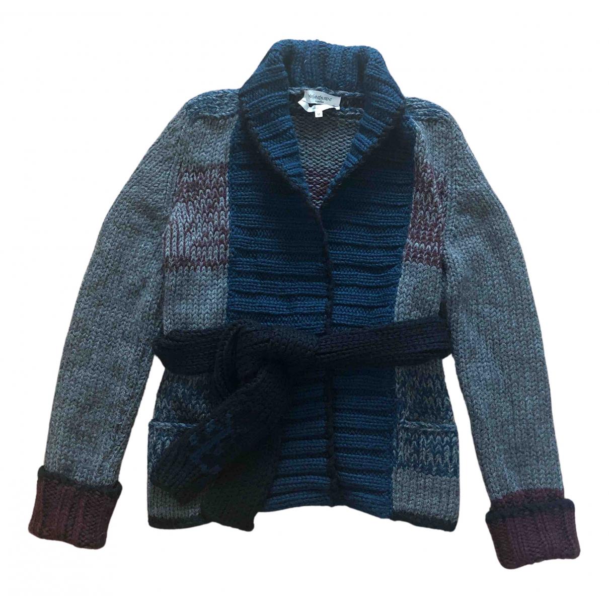 Yves Saint Laurent - Pull   pour femme en laine - gris