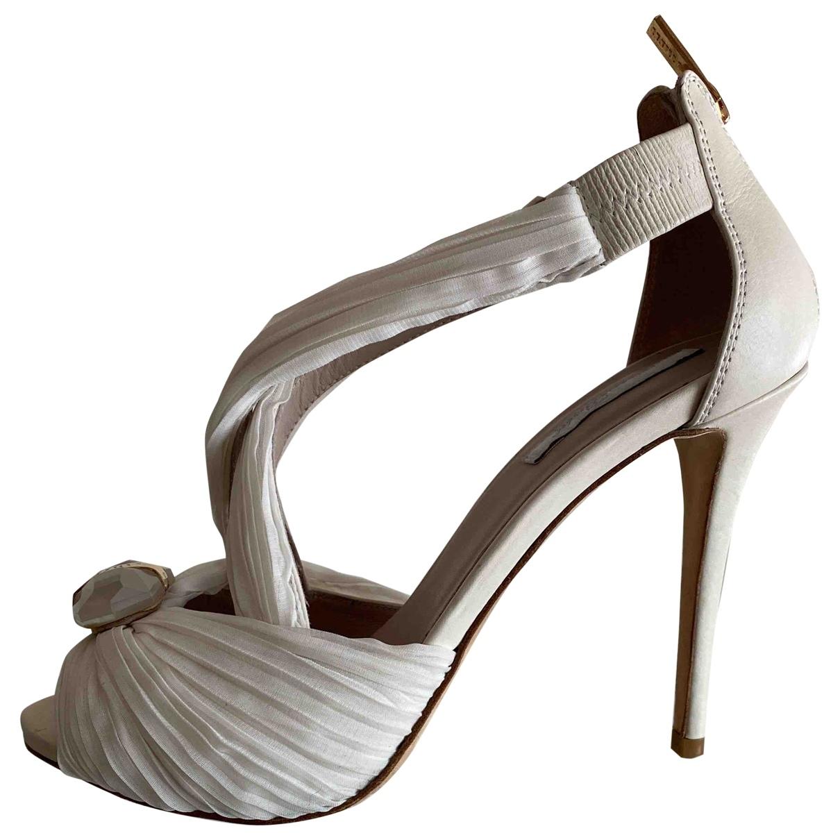 Le Silla - Escarpins   pour femme en cuir - ecru