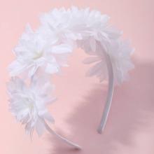 Kleinkind Maedchen Haarreif mit Blumen Dekor