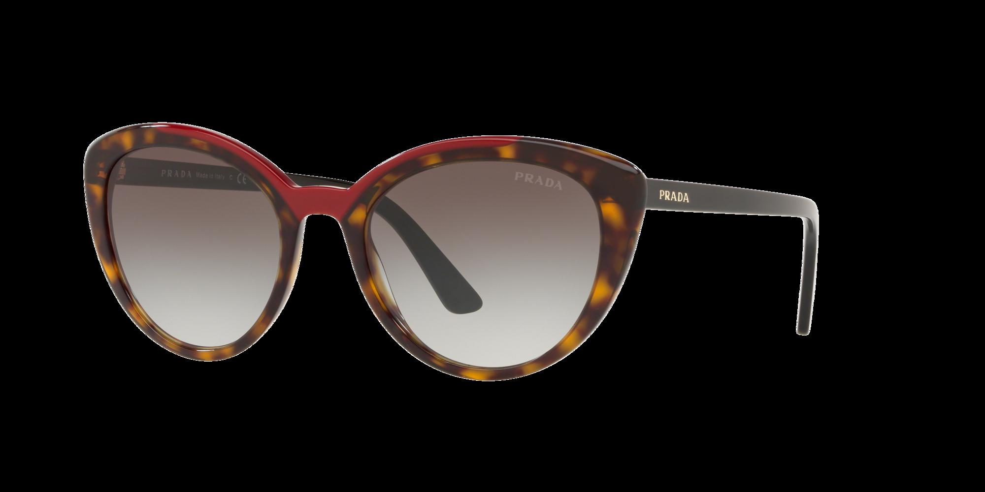 Prada Woman  PR 02VS -  Frame color: Tortoise, Lens color: Grey-Black, Size 54-20/145