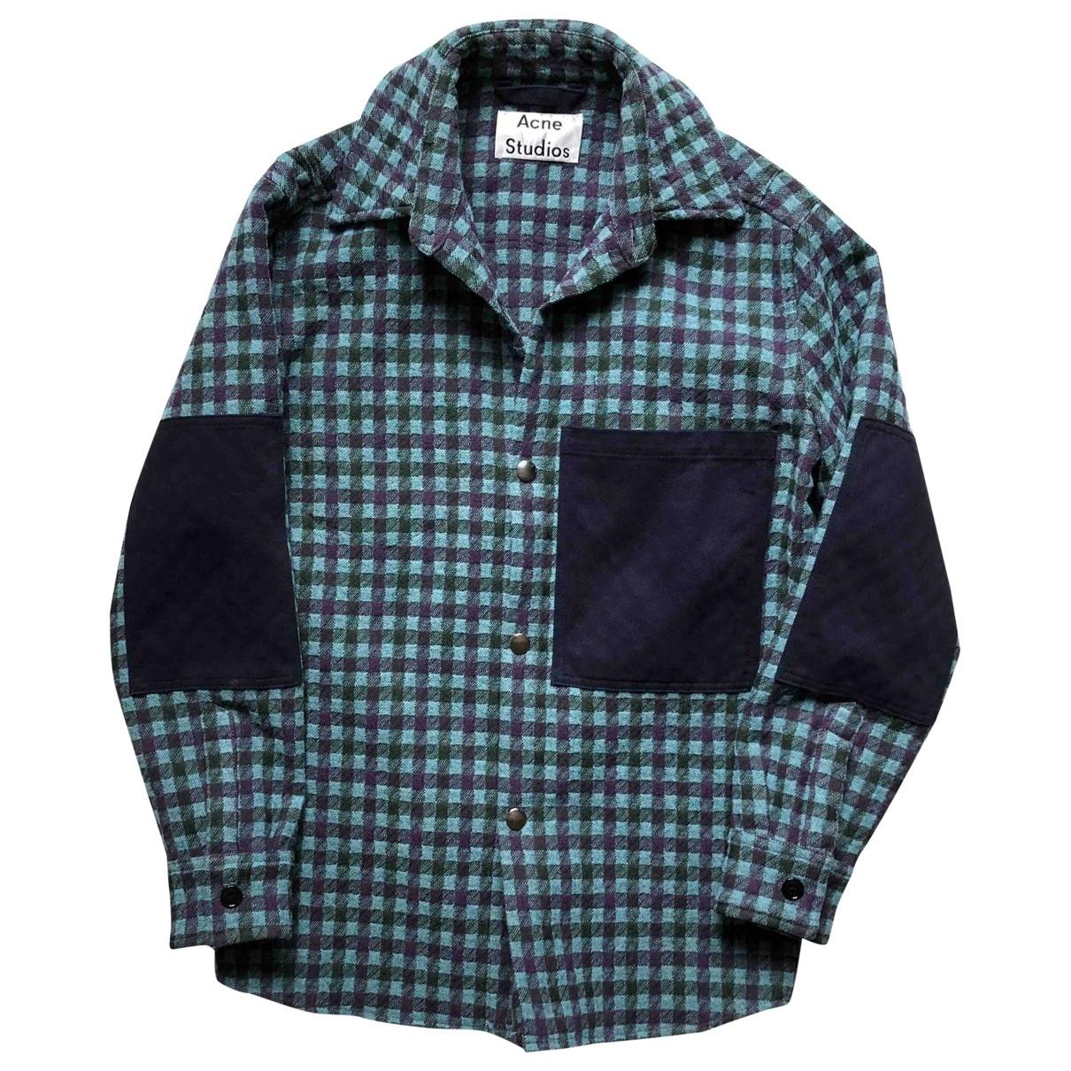 Acne Studios - Vestes.Blousons   pour homme en laine - turquoise