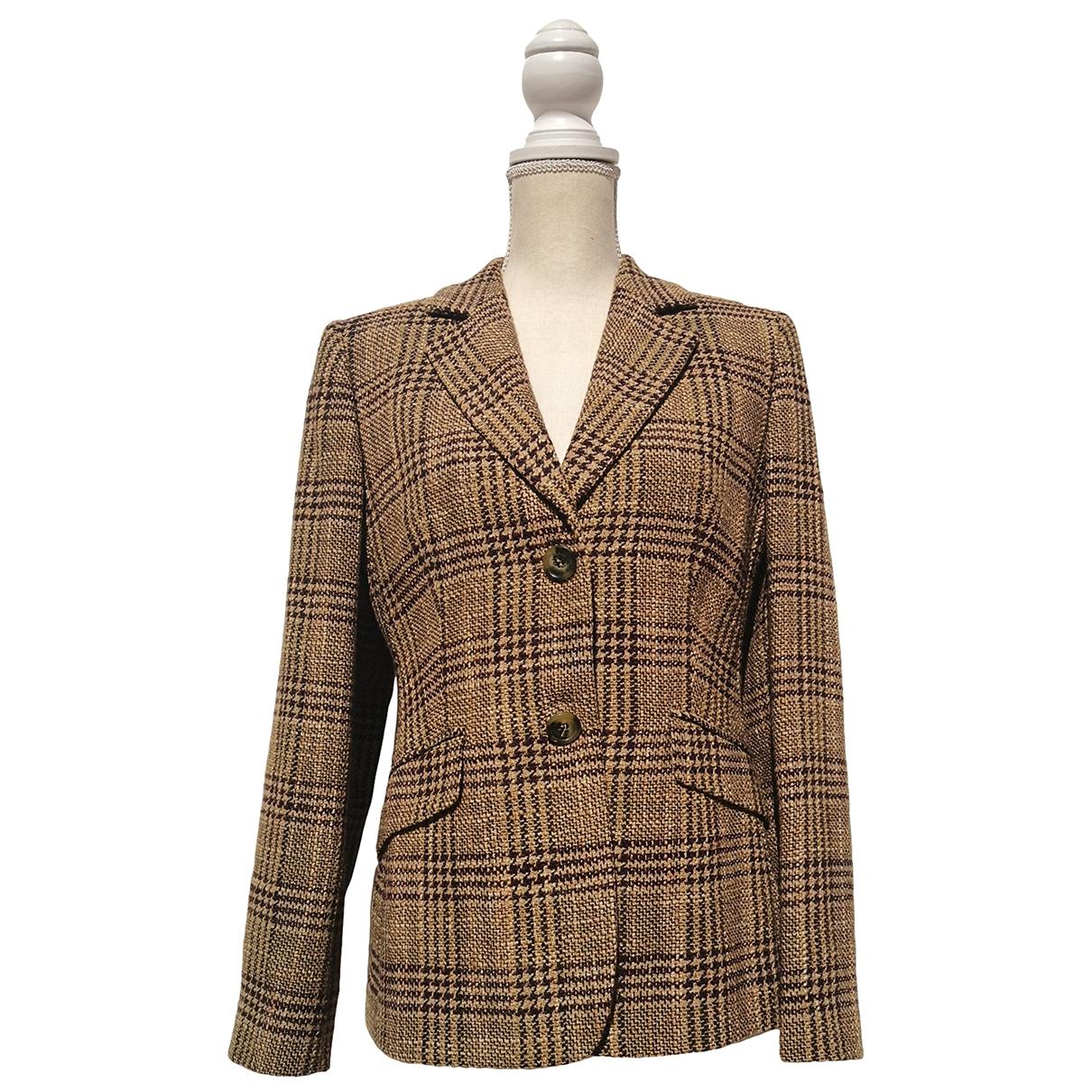Burberry - Veste   pour femme en laine - marron