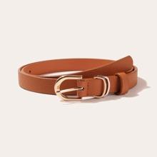 Cinturon PU simple con hebilla