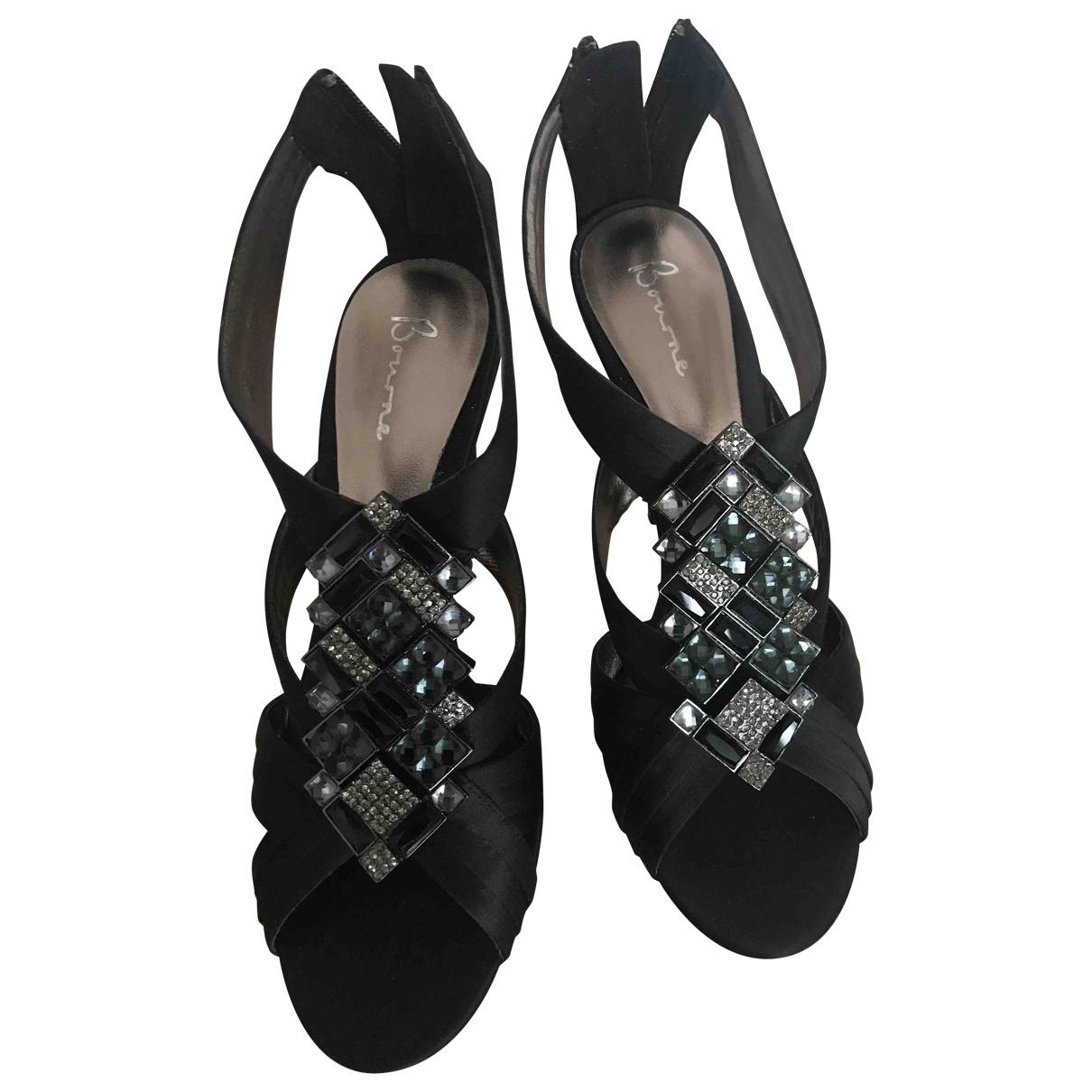 Non Signé / Unsigned \N Black Glitter Sandals for Women 39 EU