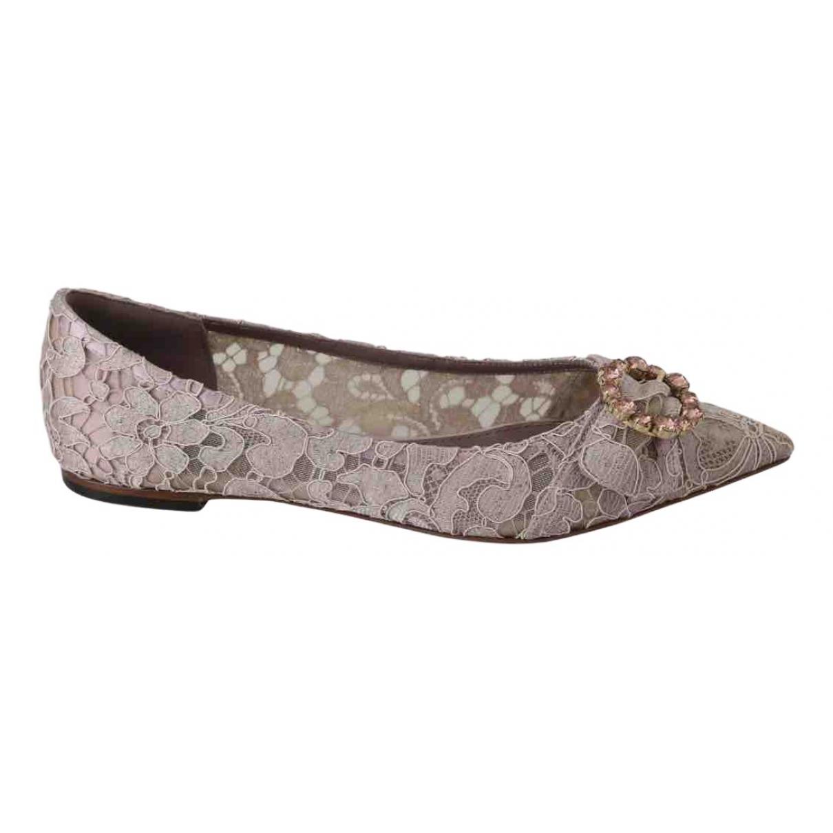 Dolce & Gabbana \N Ballerinas in  Rosa Leinen