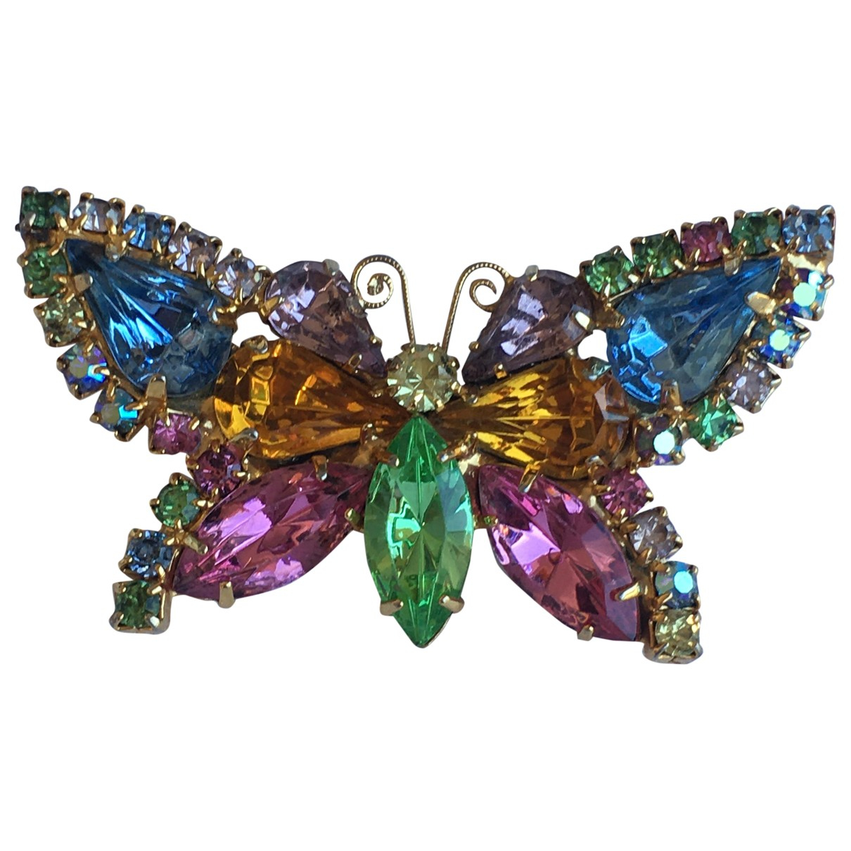 Non Signé / Unsigned Motifs Animaliers Multicolour Metal Pins & brooches for Women N