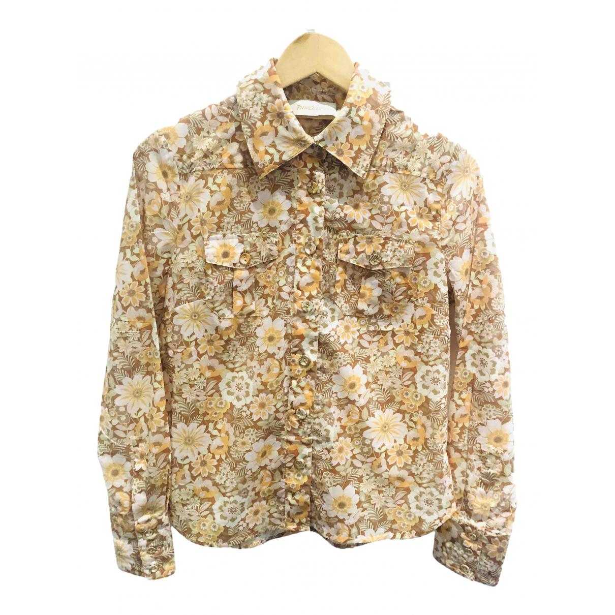 Zimmermann - Top   pour femme en coton - jaune