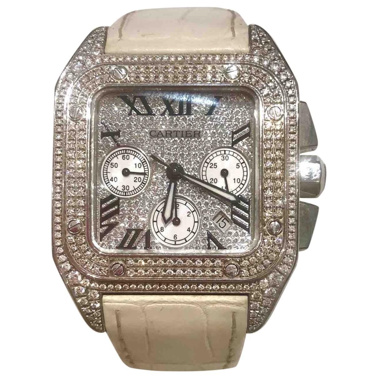 Cartier Santos 100 XL Uhr in Stahl