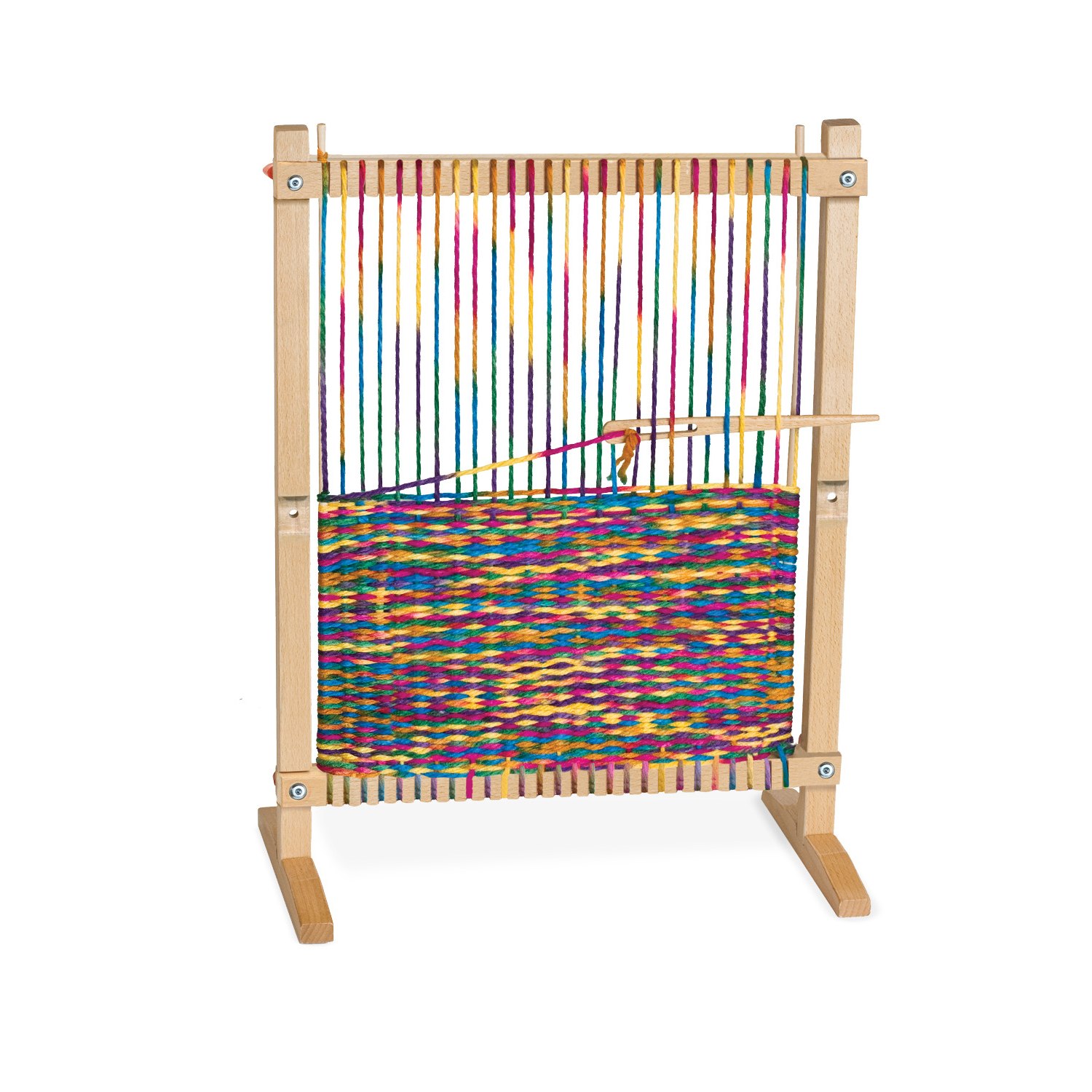 Wooden Multi-Craft Weaving Loom, Arts & Crafts, Extra-Large Frame, Develops Creativity and Motor Skills, 16.5