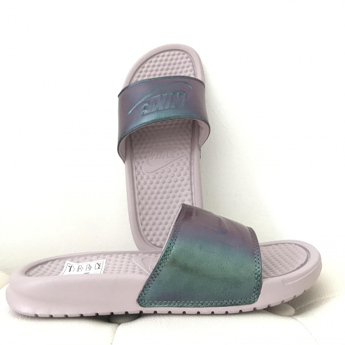 Nike \N Pink Rubber Sandals for Women 36.5 EU