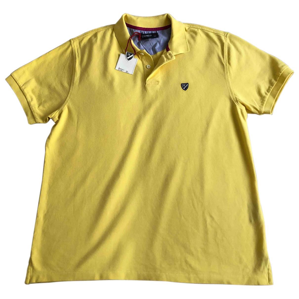 - Polos   pour homme en coton - jaune