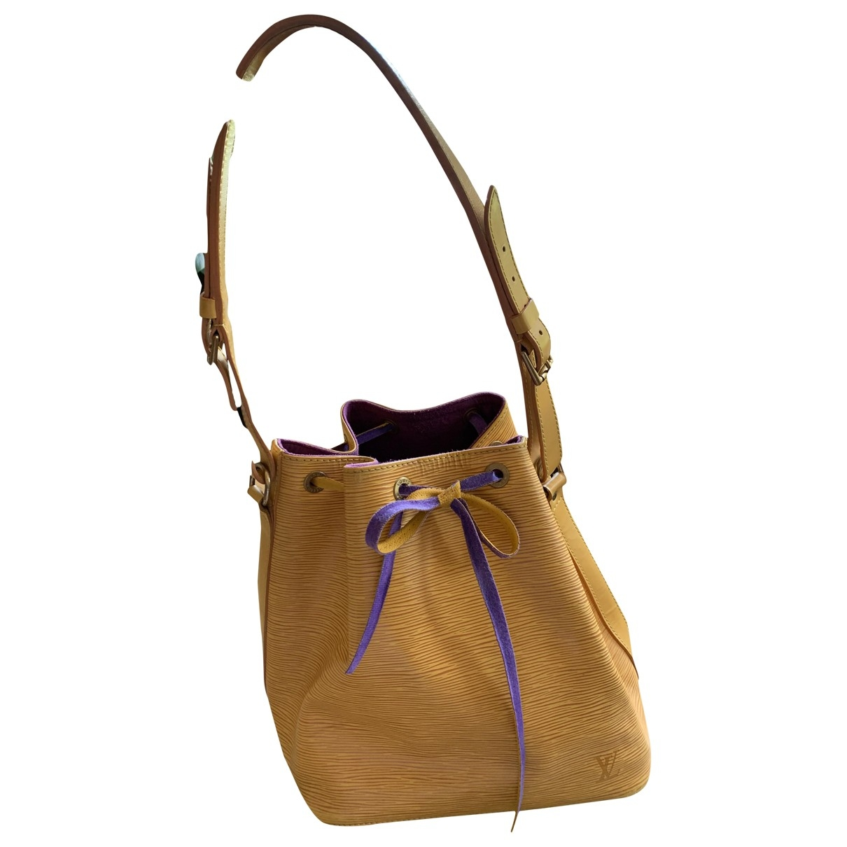 Louis Vuitton NéoNoé Yellow Leather handbag for Women \N