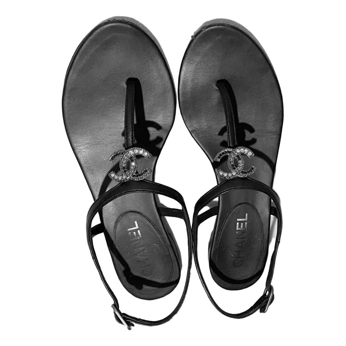 Sandalias romanas de Cuero Chanel