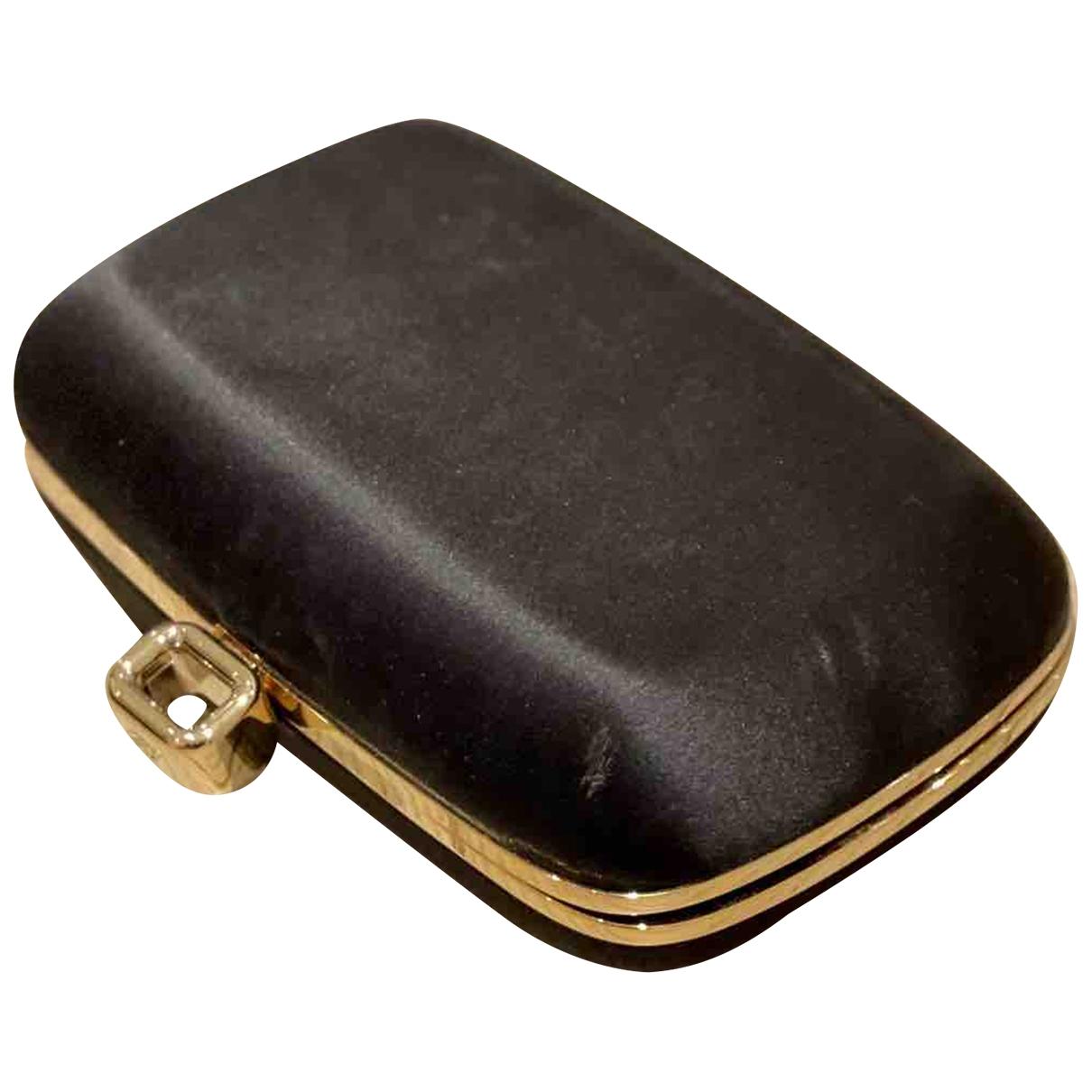Roger Vivier - Pochette Mini sac viv sellier pour femme en soie - noir