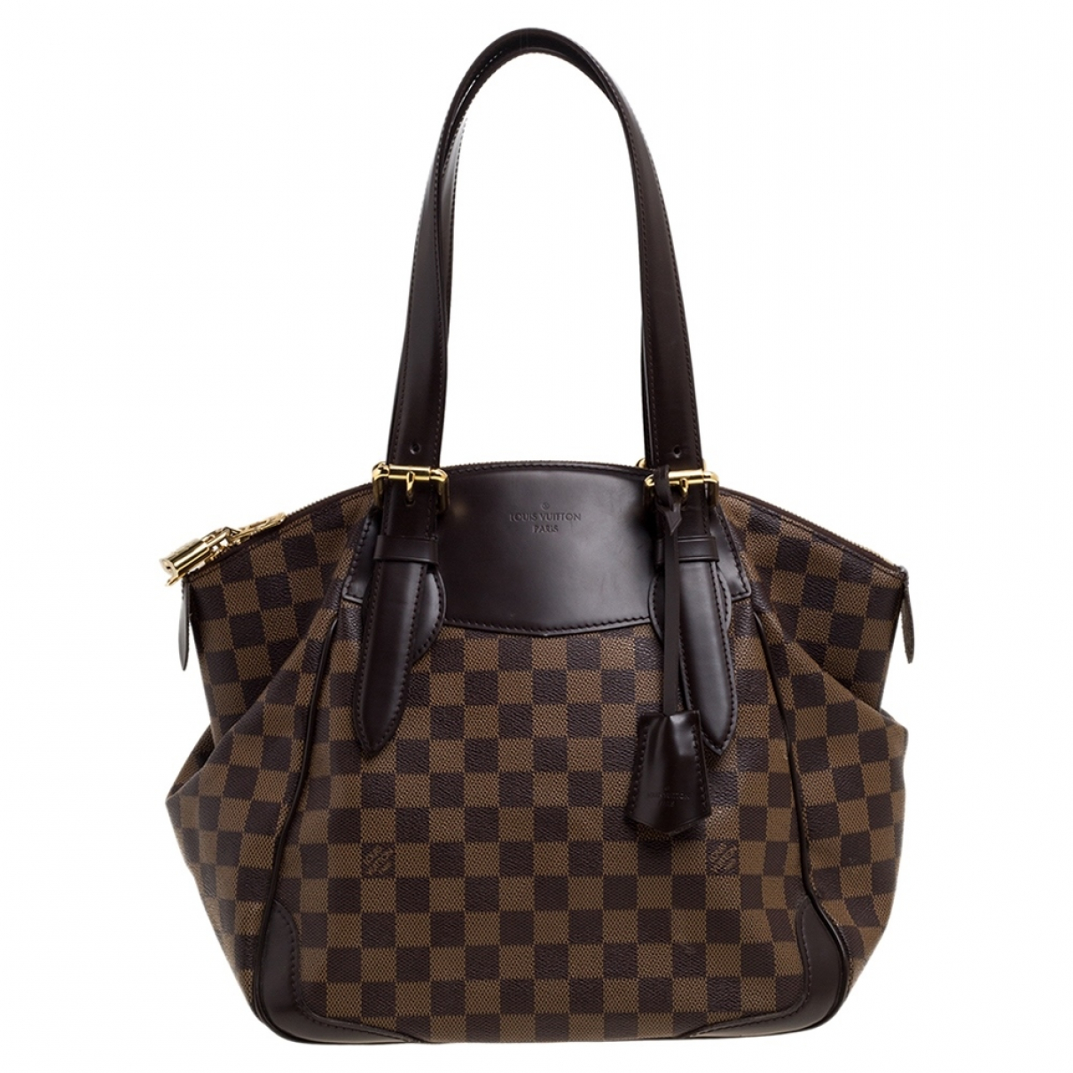 Louis Vuitton Verona Brown Leather handbag for Women N