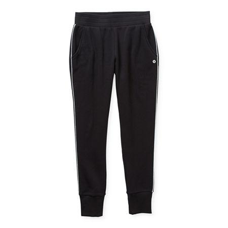 Xersion Cotton Fleece Little & Big Girls Straight Jogger Pant, 3x-large (22.5) Plus , Black