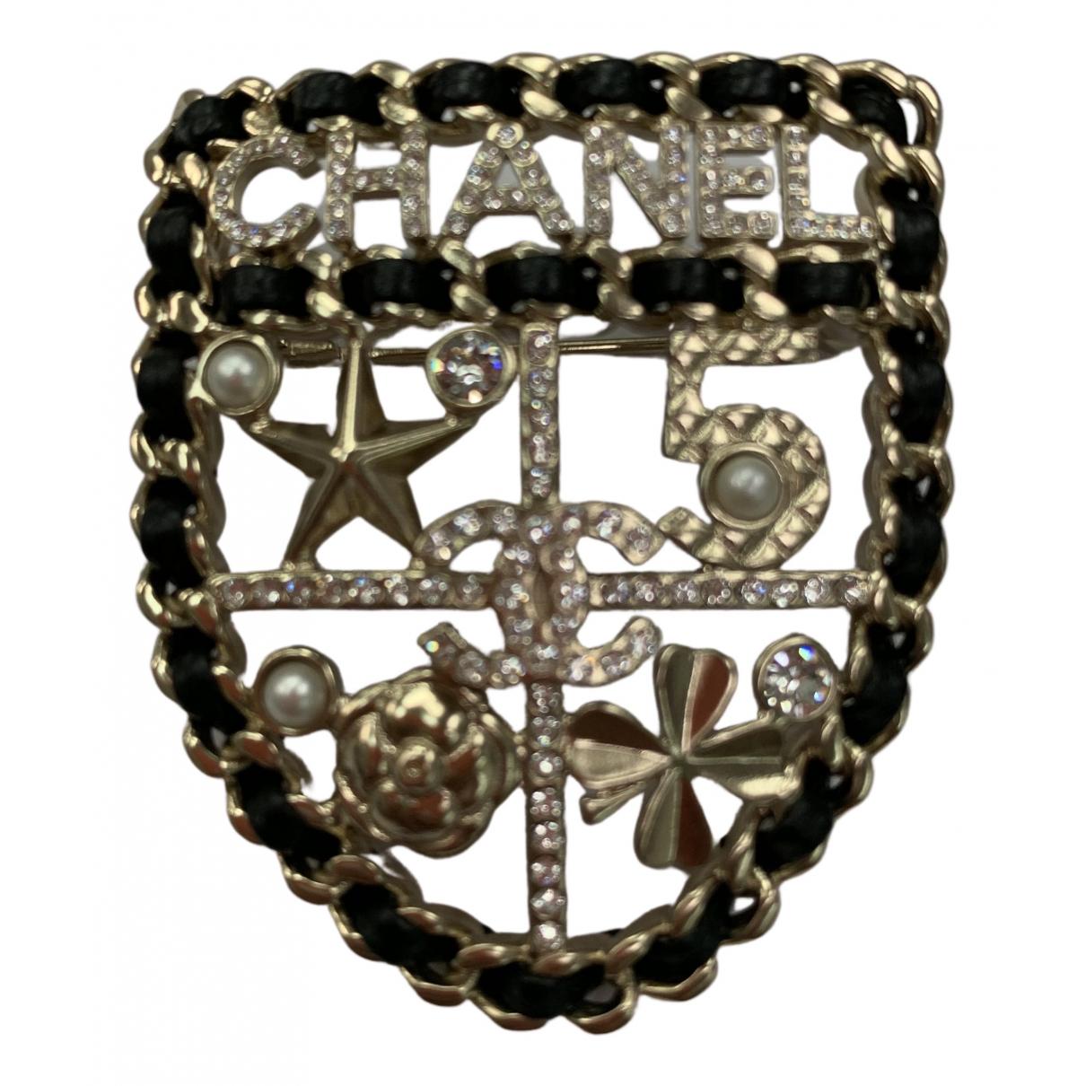 Chanel - Broche CHANEL pour femme en metal - dore