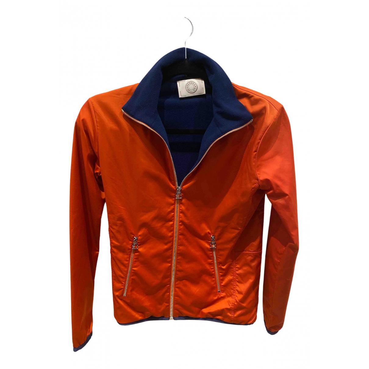 Hermes \N Jacke in  Orange Polyester
