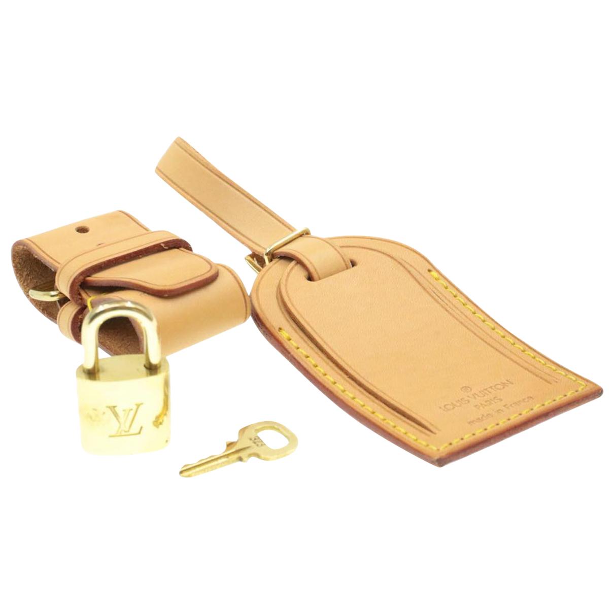 Louis Vuitton \N Taschenschmuck in  Gold Leder