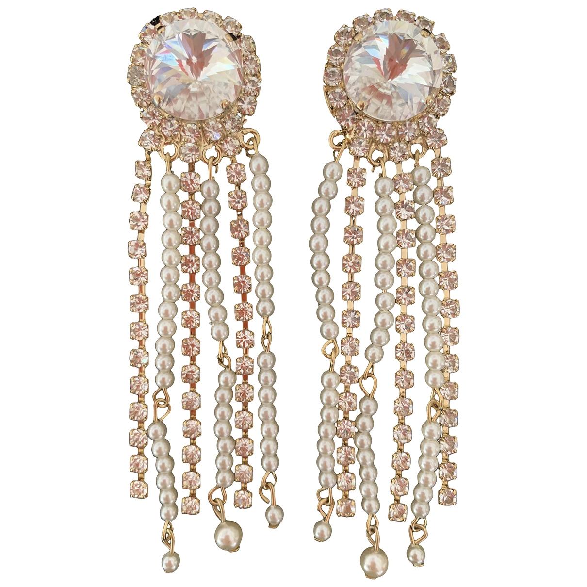 - Boucles doreilles   pour femme en perles - dore