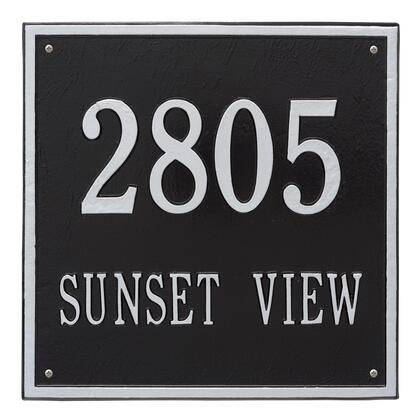 2117BS Personalized Square Plaque - Estate -Wall - 2 line in