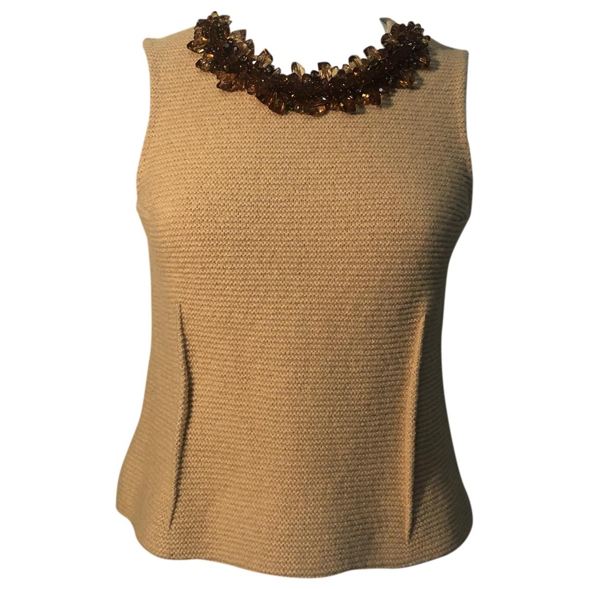 Marni - Top   pour femme en laine - jaune