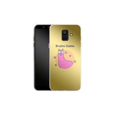 Samsung Galaxy A6 Silikon Handyhuelle - Drama Lama von Flossy and Jim